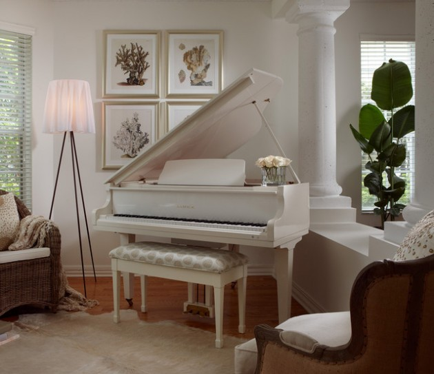 Balance and symmetry reign supreme in this shared boys' room. 19 Creative Ways How To Decorate Living Room with Piano