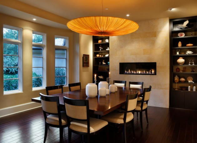 21 Attractive Dining Room FIreplace Ideas For Pleasant