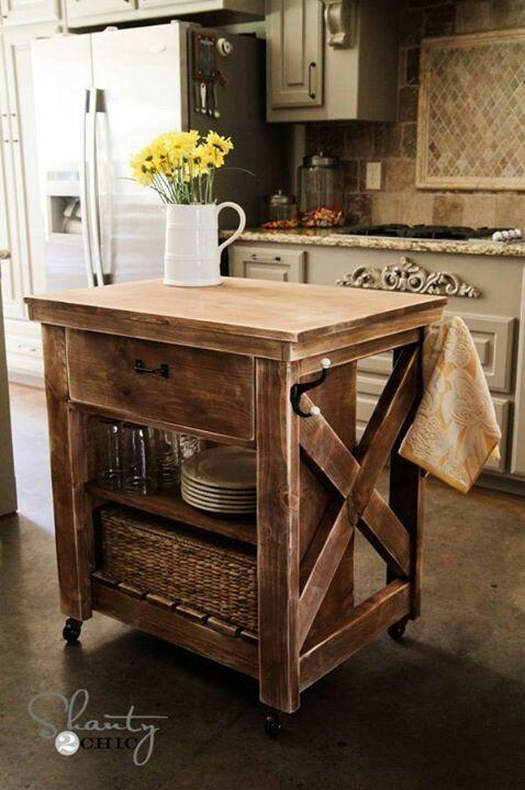 30 Rustic DIY Kitchen Island Ideas on Rustic:rkh3E0Gkuju= Farmhouse Kitchen Ideas  id=63734