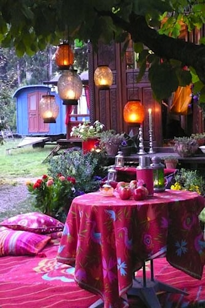 27 Amazing Ideas How To Make Your Garden Bohemian Style