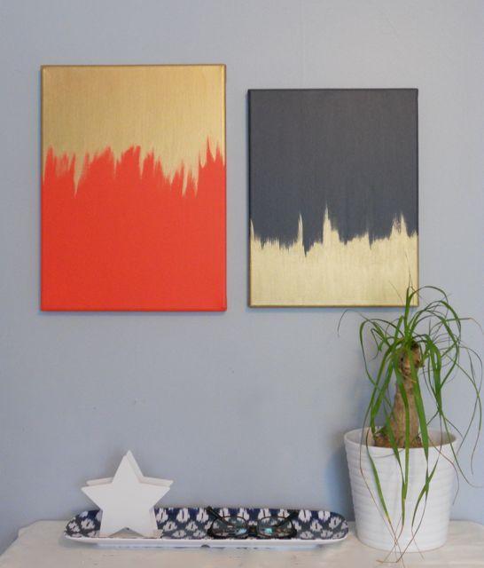 25 Creative and Easy DIY Canvas Wall Art Ideas on Creative:kqmwrvdqiag= Wall Art Ideas  id=19699