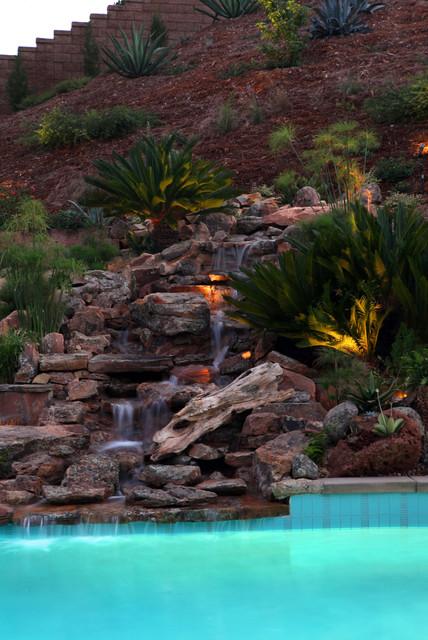 14 Awesome Waterfalls Designs For Fantastic Backyard on Steep Hill Backyard Ideas id=29028