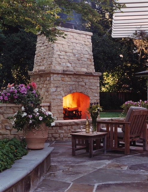 16 Relaxing Outdoor Fireplace Designs For Your Garden on Fireplace In Yard  id=55246