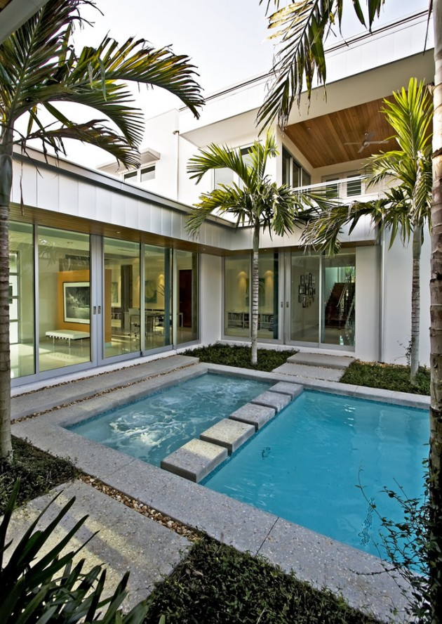 15 Masterful Modern Swimming Pool And Residence Designs on Modern Backyard Ideas With Pool id=33793