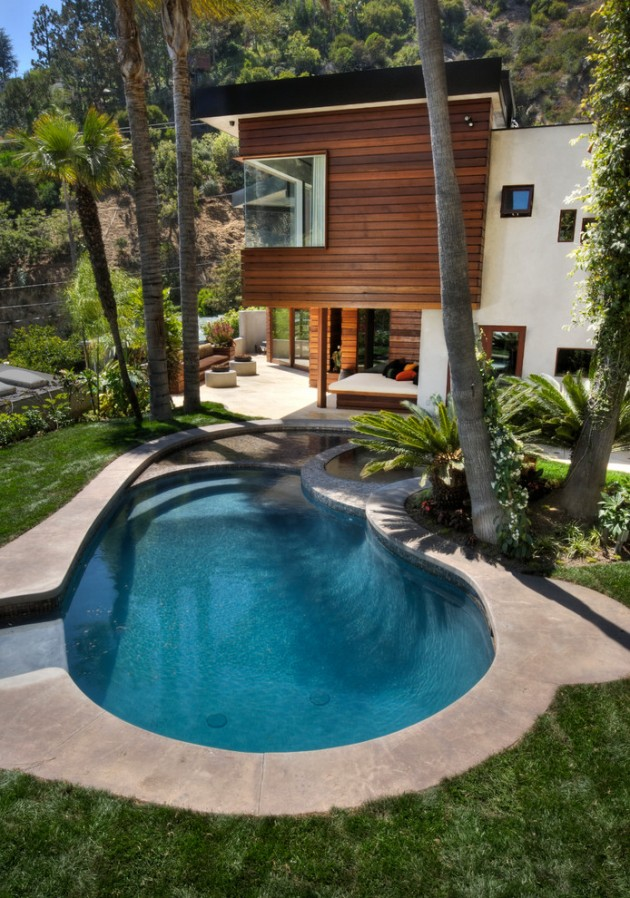 15 Tempting Contemporary Swimming Pool Designs on Modern Backyard Ideas With Pool id=98415