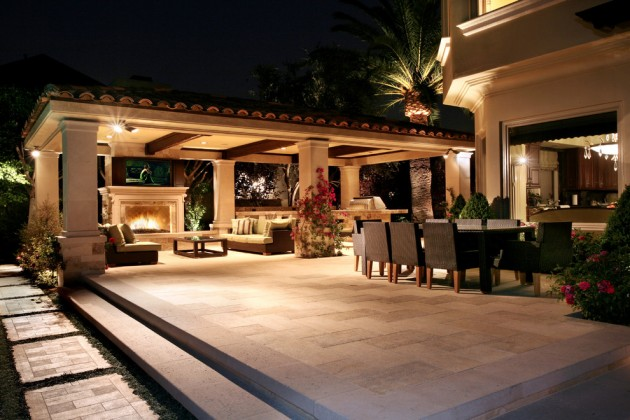 15 Luxury and Classy Mediterranean Patio Designs on Luxury Backyard Design  id=35871