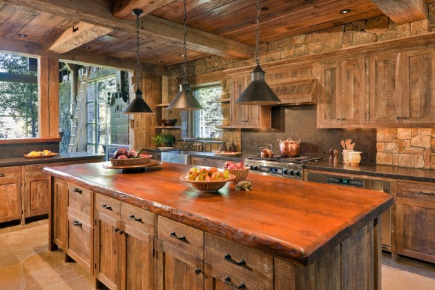 15 Warm Amp Cozy Rustic Kitchen Designs For Your Cabin