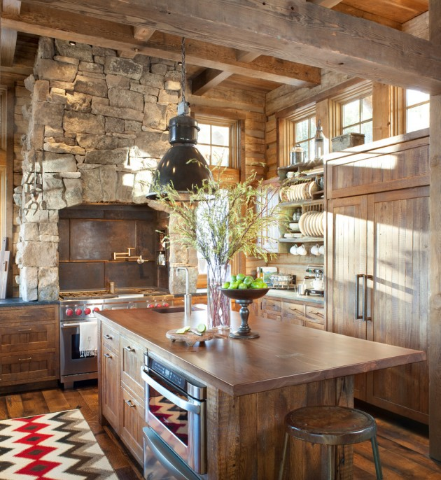 15 Warm & Cozy Rustic Kitchen Designs For Your Cabin on Rustic:mophcifcrpe= Cottage Kitchen Ideas  id=24686