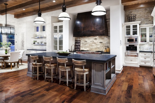 15 Warm & Cozy Rustic Kitchen Designs For Your Cabin on Rustic:rkh3E0Gkuju= Farmhouse Kitchen Ideas  id=59287