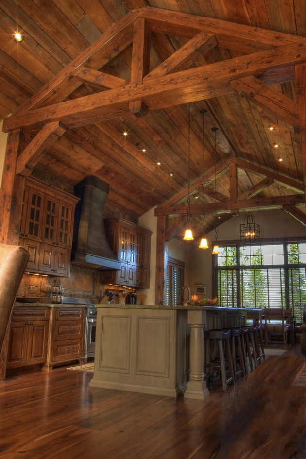 15 Warm & Cozy Rustic Kitchen Designs For Your Cabin on Rustic:1Gdhjdx6F3G= Farmhouse Kitchen  id=25248