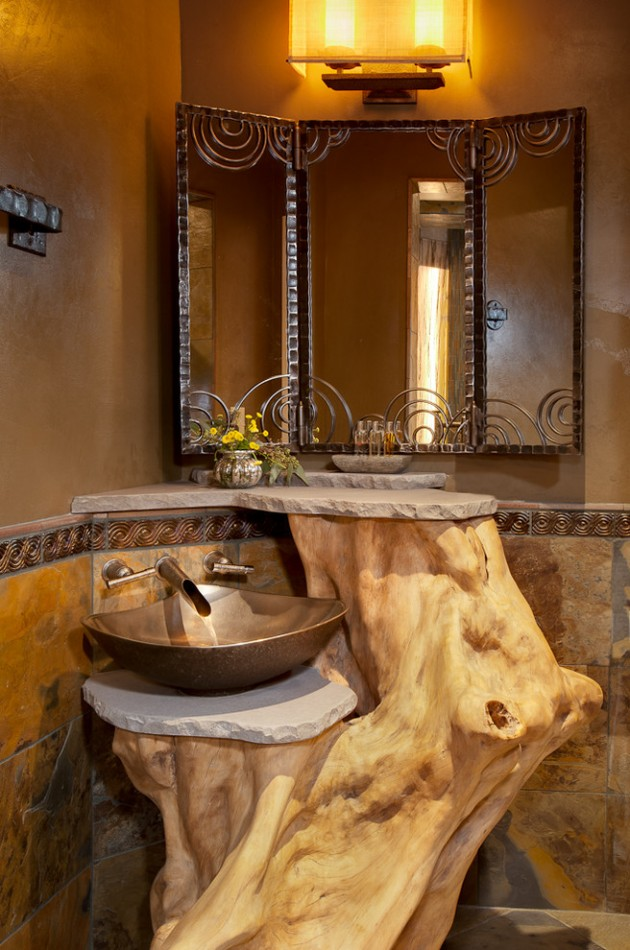 16 Homely Rustic Bathroom Ideas To Warm You Up This Winter on Rustic:s9Dkpzirpk8= Farmhouse Bathroom  id=13010