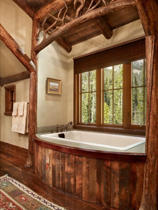 15 Heartwarming Rustic Bathroom Designs Perfect For The Winter