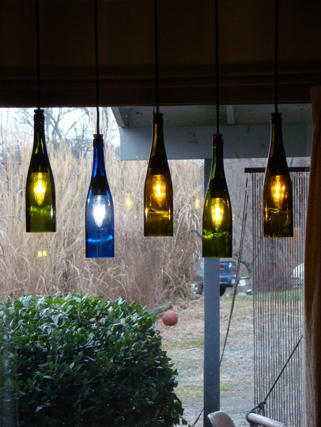 This technique will also allow you to visually combine adjacent rooms. 19 Inexpensive & Creative DIY Wine Bottle Lighting Ideas