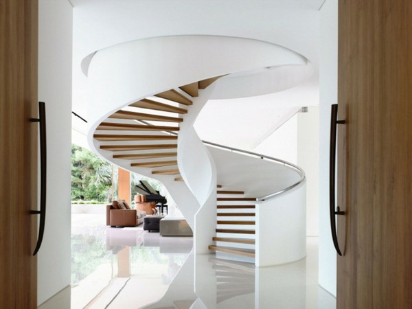 16 Elegant Modern Spiral Stairs Design Ideas That Will Fit