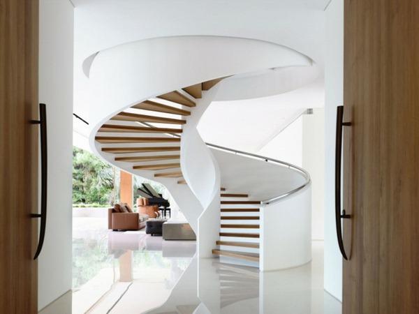 16 Elegant Modern Spiral Stairs Design Ideas That Will Fit