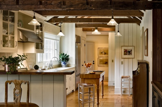 15 Lovely Farmhouse Kitchen Interior Designs To Fall In ... on Rustic:1Gdhjdx6F3G= Farmhouse Kitchen  id=86513