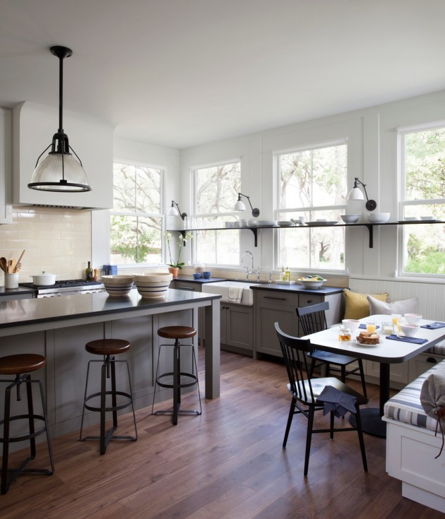 15 Lovely Farmhouse Kitchen Interior Designs To Fall In ... on Rustic:1Gdhjdx6F3G= Farmhouse Kitchen  id=77513