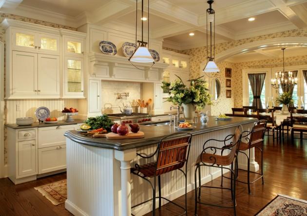 15 Lovely Farmhouse Kitchen Interior Designs To Fall In ... on Luxury Farmhouse Kitchen  id=54408