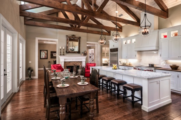 15 Lovely Farmhouse Kitchen Interior Designs To Fall In ... on Rustic:1Gdhjdx6F3G= Farmhouse Kitchen  id=95773