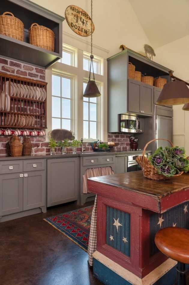 15 Lovely Farmhouse Kitchen Interior Designs To Fall In ... on Rustic:1Gdhjdx6F3G= Farmhouse Kitchen  id=76915