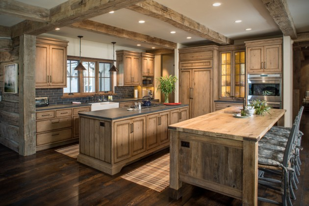 15 Warm Rustic Kitchen Designs That Will Make You Enjoy ... on Farmhouse:4Leikoxevec= Rustic Kitchen Ideas  id=21937