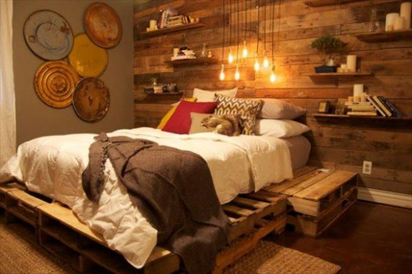 27 Insanely Genius DIY Pallet Bed Ideas That Will Leave ... on Pallet Bed Room  id=72423