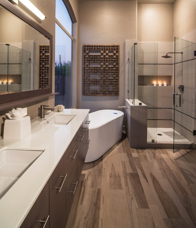 15 Chic Contemporary Bathrooms For Inspiration And Ideas on Contemporary Small Bathroom Ideas  id=30859
