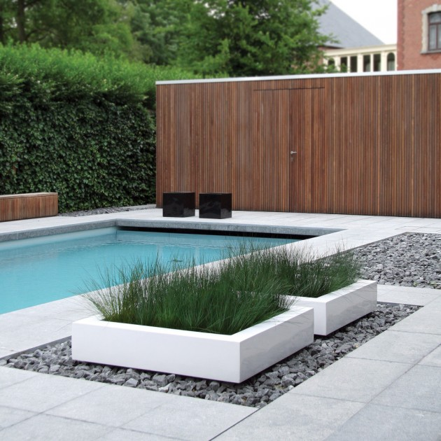 15 Fabulous Backyard Swimming Pool Designs You'd Wish You ... on Modern Backyard Ideas With Pool id=54857