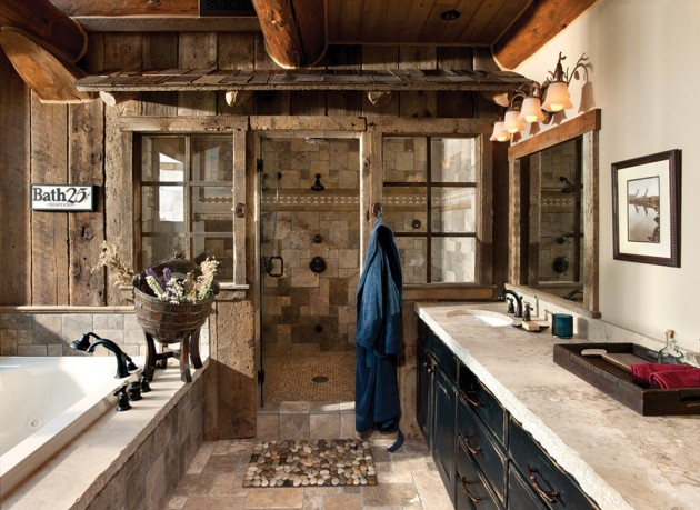 15 Refined Rustic Bathroom Designs For Your Rustic Home on Remodel:ll6Wzx8Nqba= Small Kitchen Ideas  id=87087