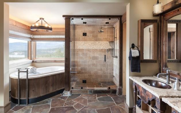 15 Refined Rustic Bathroom Designs For Your Rustic Home on Rustic:s9Dkpzirpk8= Farmhouse Bathroom  id=39206