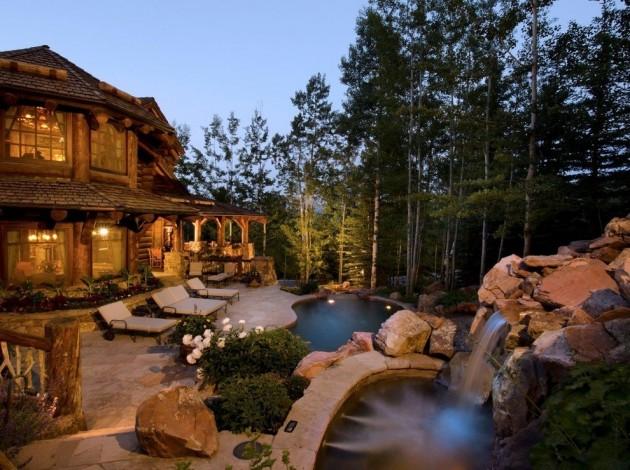 15 Splendid Rustic Swimming Pool Designs That Offer A