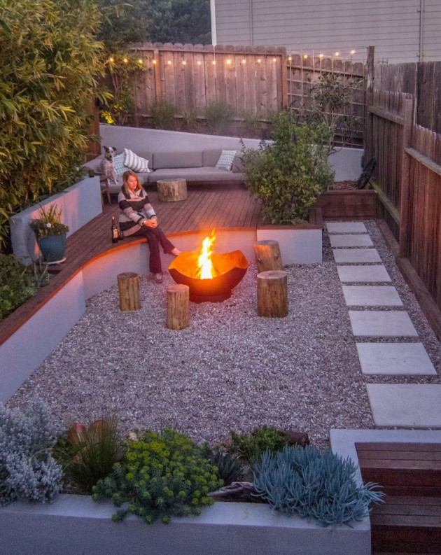 16 Captivating Modern Landscape Designs For A Modern Backyard on Backyard Yard Design  id=51404