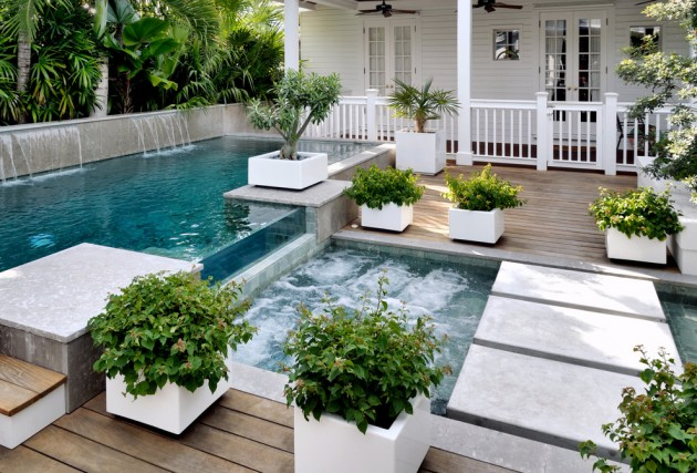 16 Refreshing Beach Style Swimming Pools To Cool You Down ... on Modern Backyard Ideas With Pool id=45067