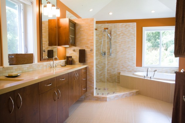 20 Stylish Mid Century Modern Bathroom Designs For A