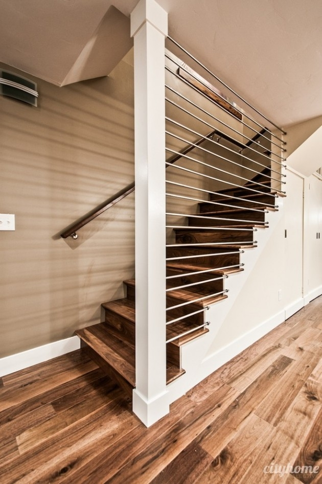 15 Outstanding Mid Century Modern Staircase Designs To Bring You | Mid Century Modern Stair Handrail | Wrought Iron | Basement | Bannister | Modern Style | Contemporary Curved Staircase
