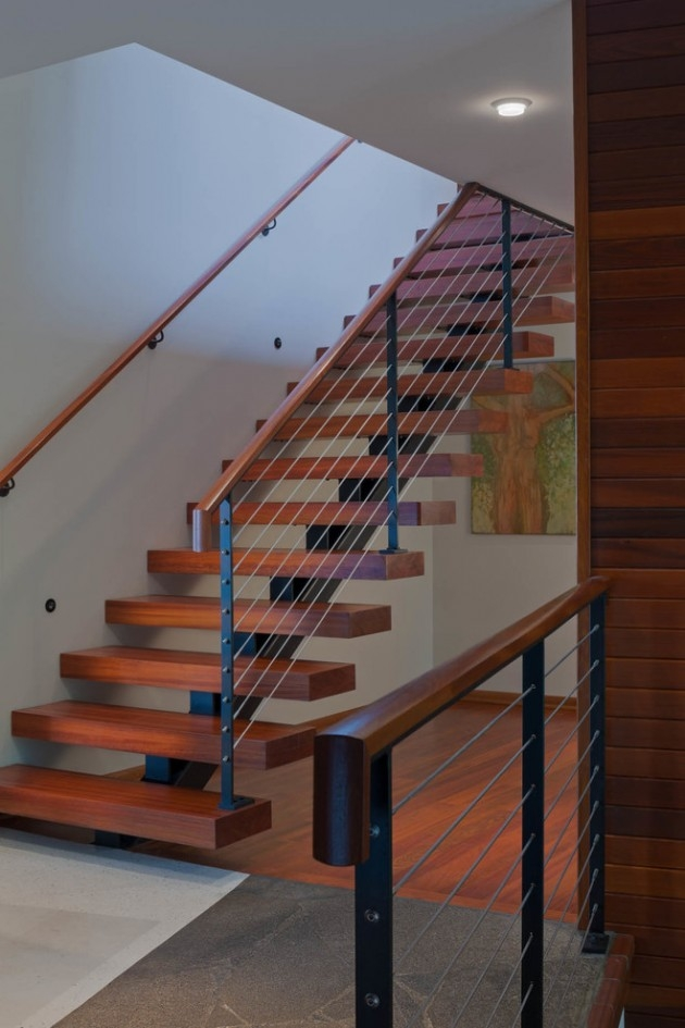 15 Outstanding Mid Century Modern Staircase Designs To   Mid Century Modern Banister