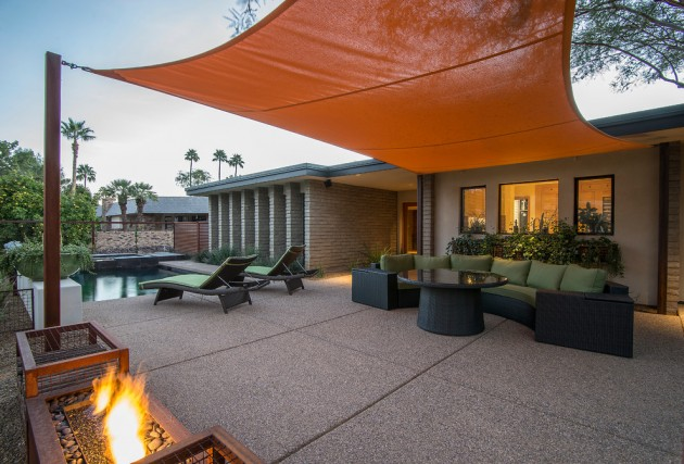 16 Exceptional Mid-Century Modern Patio Designs For Your ... on Modern Backyard Patio Ideas  id=77014