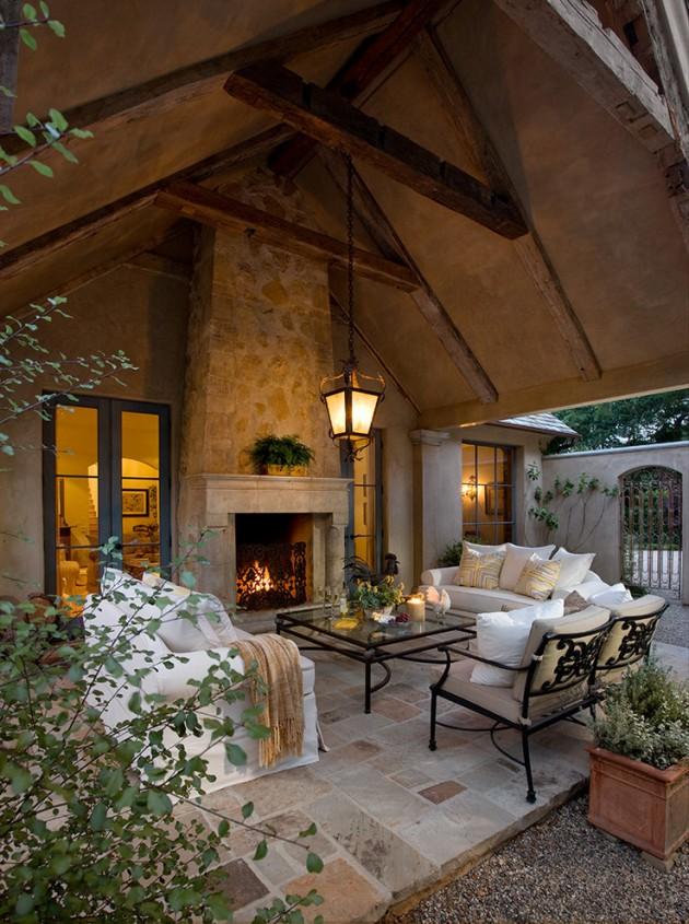 18 Extraordinary Luxurious Mediterranean Patio Designs You ... on Backyard Porch Ideas  id=82459