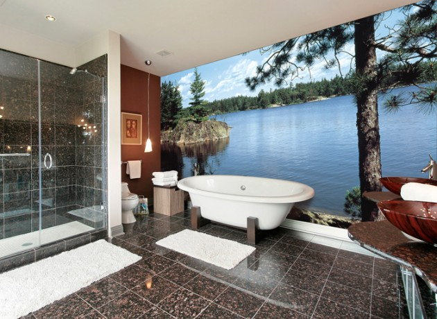14 Beautiful Wall Murals Design For Your Dream Bathroom