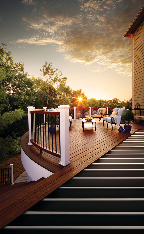 15 Brilliant Transitional Deck Designs To Make Your ... on Backyard Deck Designs id=15094