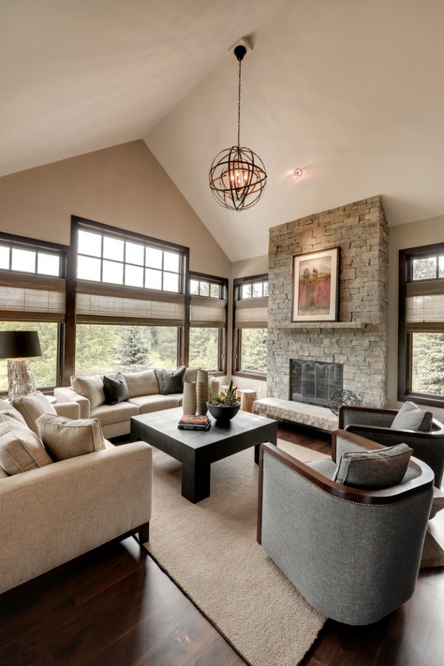 15 Wonderful Transitional Living Room Designs To Refresh ... on Decor Room  id=20733