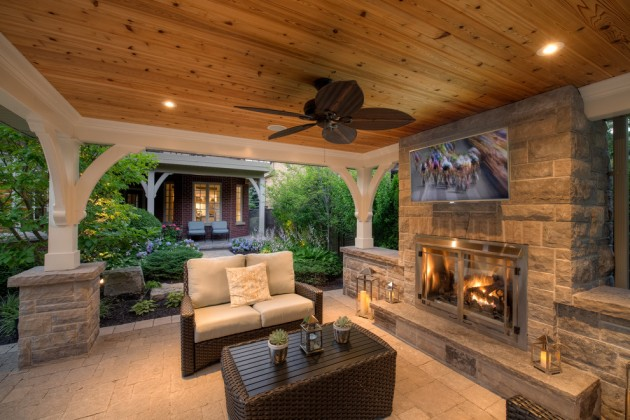 16 Opulent Transitional Patio Designs For The Spring And ... on Covered Patio Design Ideas id=88813