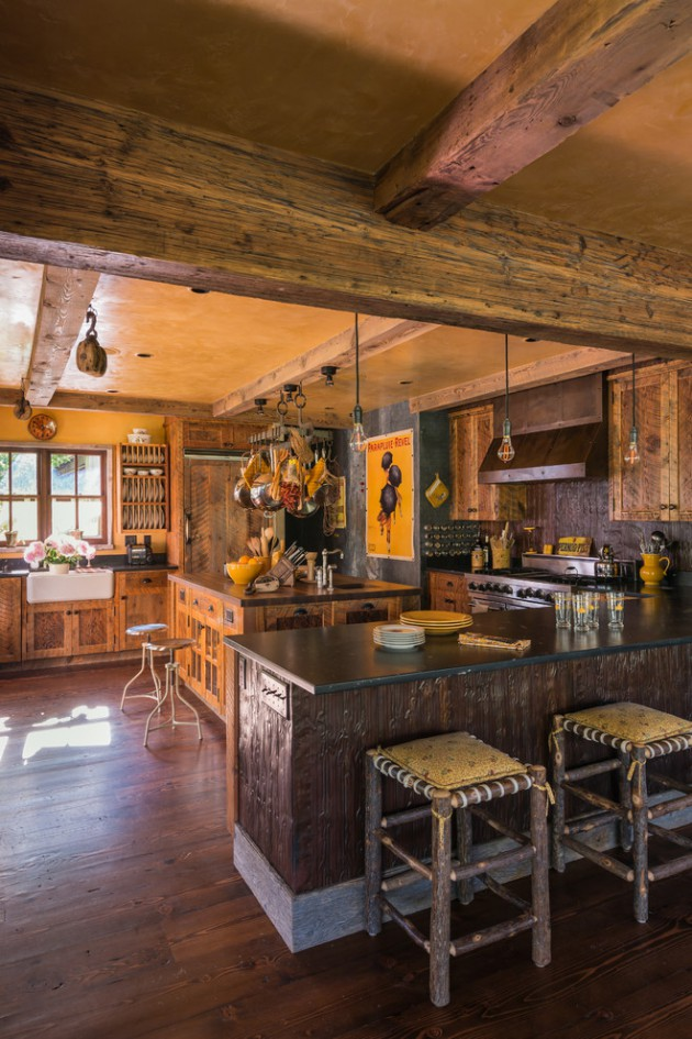 17 Beautiful Rustic Kitchen Interiors Every Rustic ... on Rustic Traditional Decor  id=39737