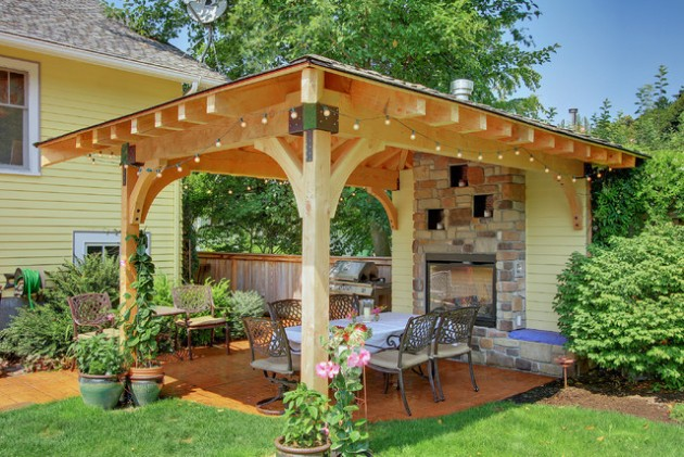 18 Majestic Covered Patio Design Ideas To Enjoy In The Hot ... on Covered Patio Design Ideas id=45061