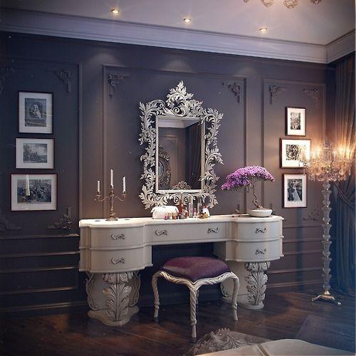 16 Gorgeous Vintage Make-Up Vanity Design Ideas on Make Up Room Ideas  id=38361