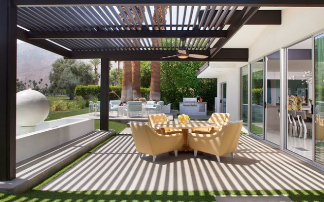 16 Sensational Mid-Century Patio Designs To Improve Your ... on Mid Century Modern Patio Ideas id=97223