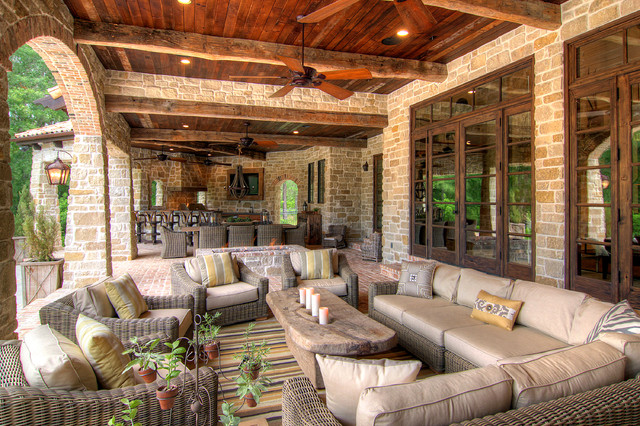 18 Charming Mediterranean Patio Designs To Make Your ... on Farmhouse Outdoor Living Space id=31881