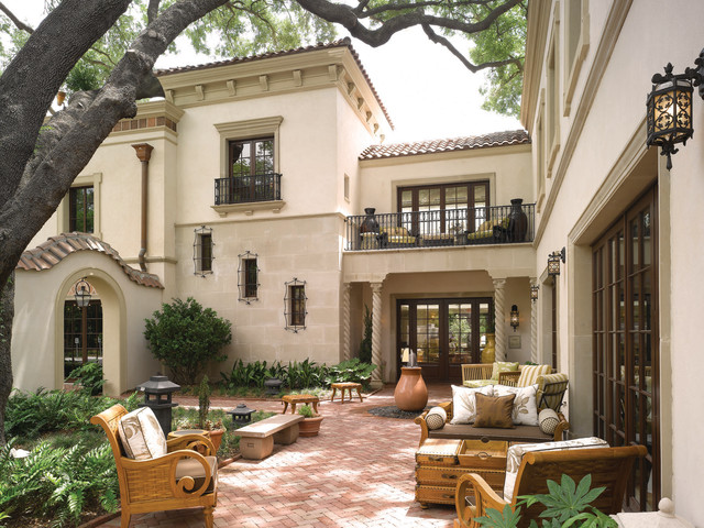 18 Charming Mediterranean Patio Designs To Make Your ... on Small Mediterranean Patio Ideas id=93177