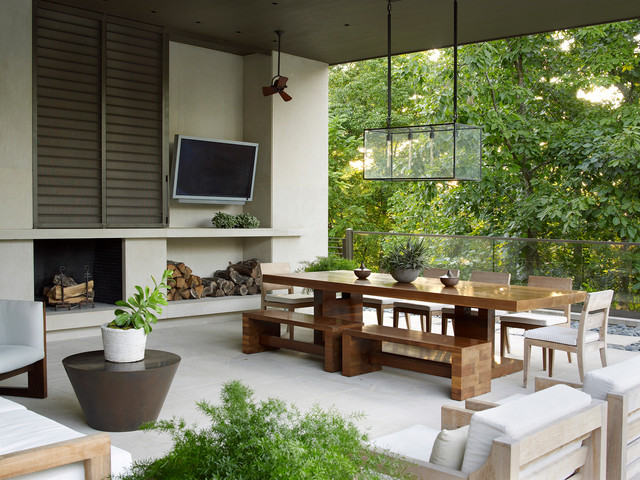 15 Wonderful Contemporary Patio Designs To Enjoy During ... on Modern Small Patio Ideas id=46013