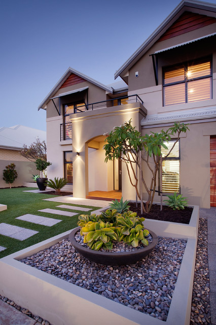 16 Delightful Contemporary Landscape Designs To Upgrade ... on Backyard Lawn Designs  id=43773